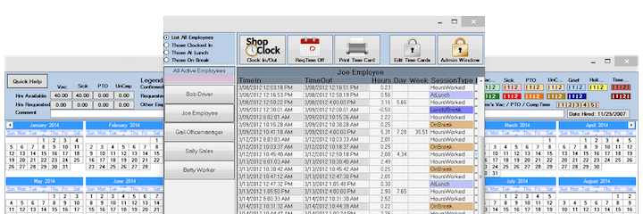 time card calculator timesheet software shopclock